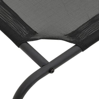 vidaXL Dvignjena pasja postelja črna L tekstil[4/6]