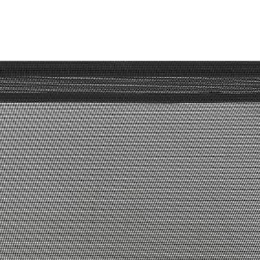 vidaXL Dvignjena pasja postelja črna L tekstil[5/6]