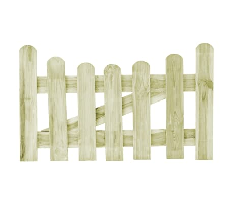 vidaXL Poartă de grădină, 100 x 60 cm, lemn de pin tratat
