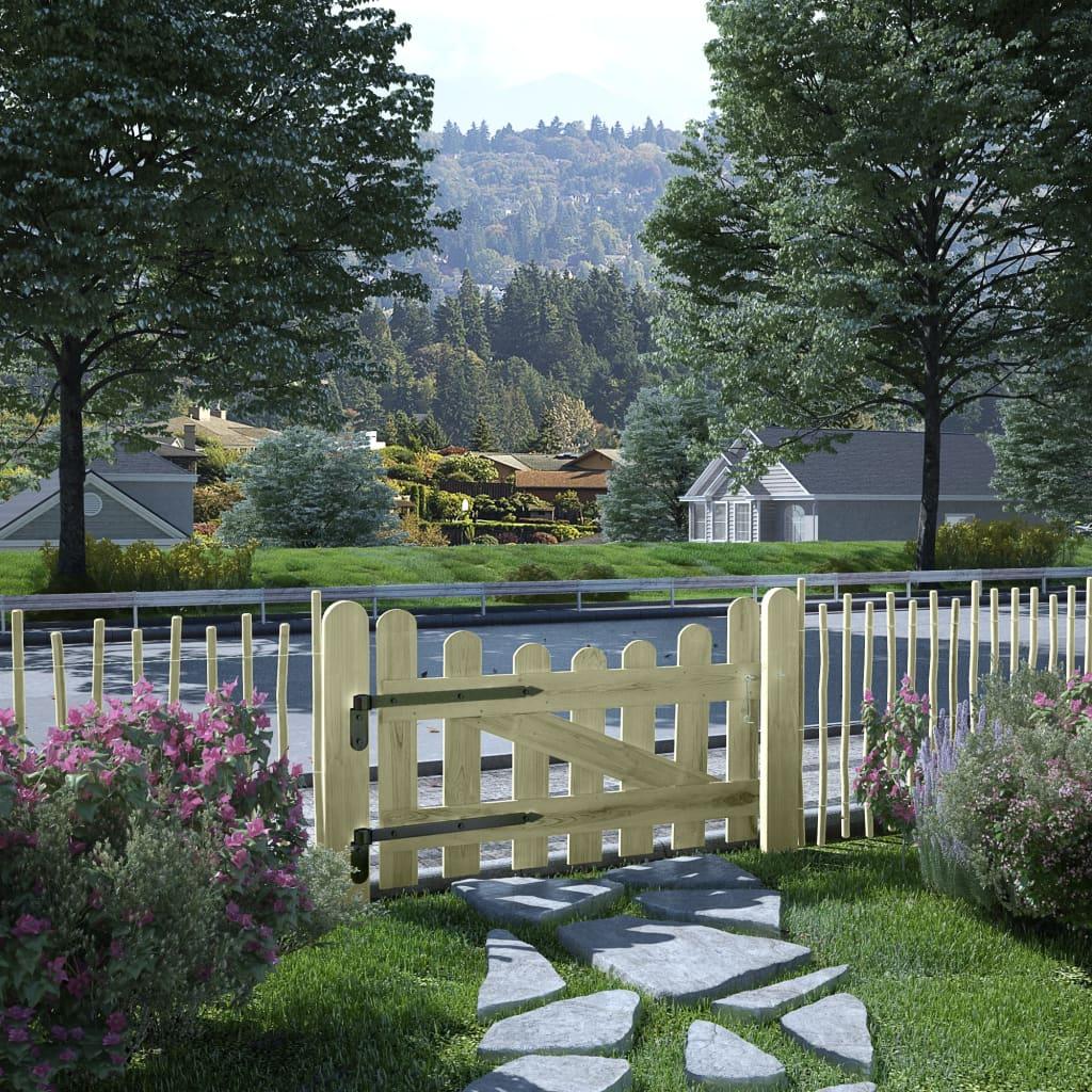 vidaXL Poartă de grădină, 100 x 60 cm, lemn de pin tratat vidaxl.ro
