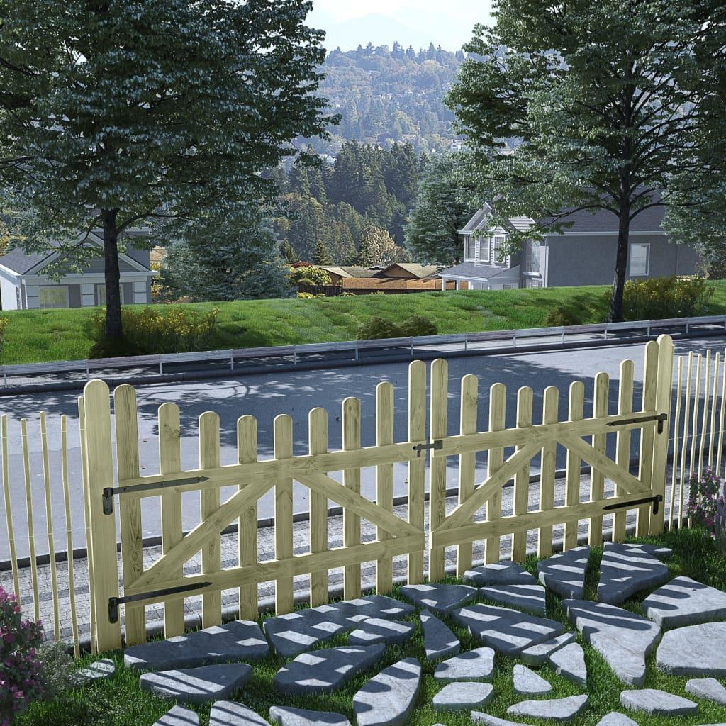 Zahradní 2křídlá brána impregnovaná borovice 150 x 120 cm