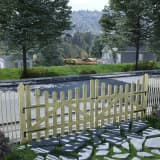vidaXL Garden Gates 2 pcs Impregnated Pinewood 150x120 cm