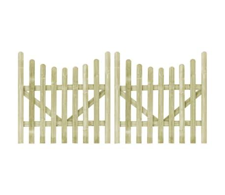 vidaXL Garden Gates 2 pcs Impregnated Pinewood 150x150 cm