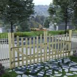 vidaXL Porți de grădină, 2 buc., 150 x 150 cm, lemn de pin tratat