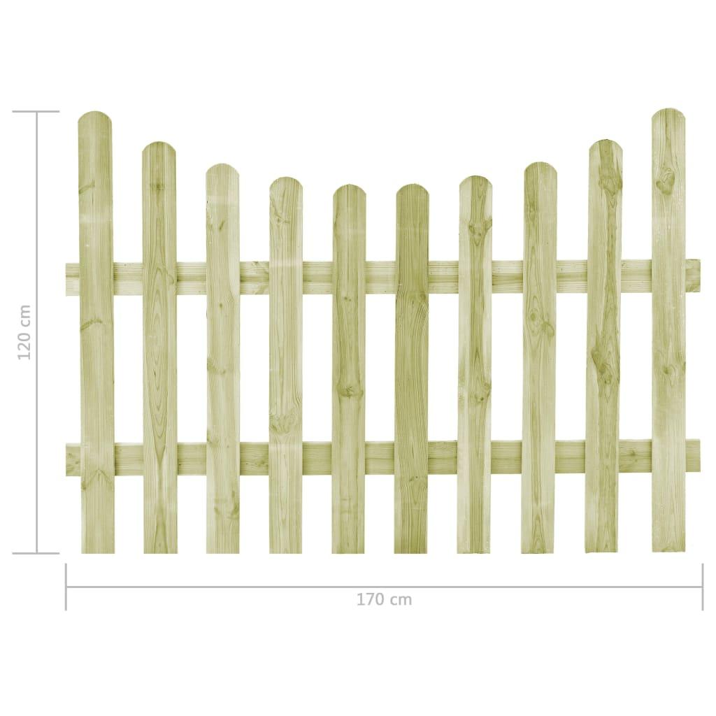 vidaXL Poort 170x120 cm geïmpregneerd grenenhout