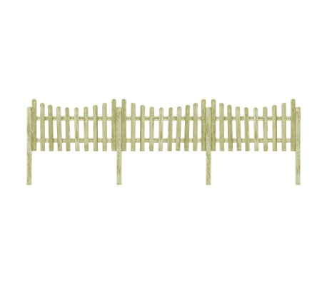 vidaXL Garden Fence with 4 Posts Impregnated Pinewood 510x100 cm