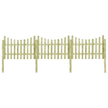 vidaXL Градинска ограда с 4 стълба, FSC импрегниран бор, 510x120 см[1/6]