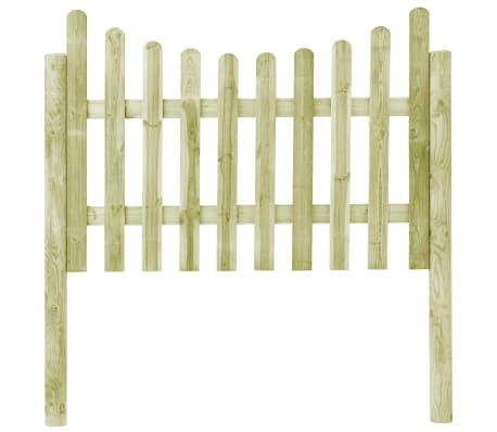 vidaXL Градинска ограда с 4 стълба, FSC импрегниран бор, 510x120 см[2/6]
