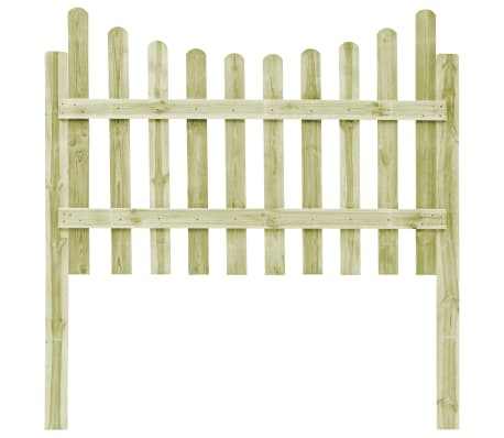 vidaXL Градинска ограда с 4 стълба, FSC импрегниран бор, 510x120 см[4/6]