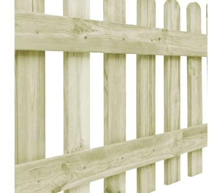vidaXL Градинска ограда с 4 стълба, FSC импрегниран бор, 510x120 см[5/6]