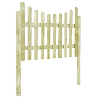 vidaXL Градинска ограда с 4 стълба, FSC импрегниран бор, 510x120 см[3/6]