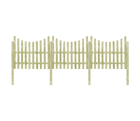 vidaXL Garden Fence with 4 Posts Impregnated Pinewood 510x150 cm