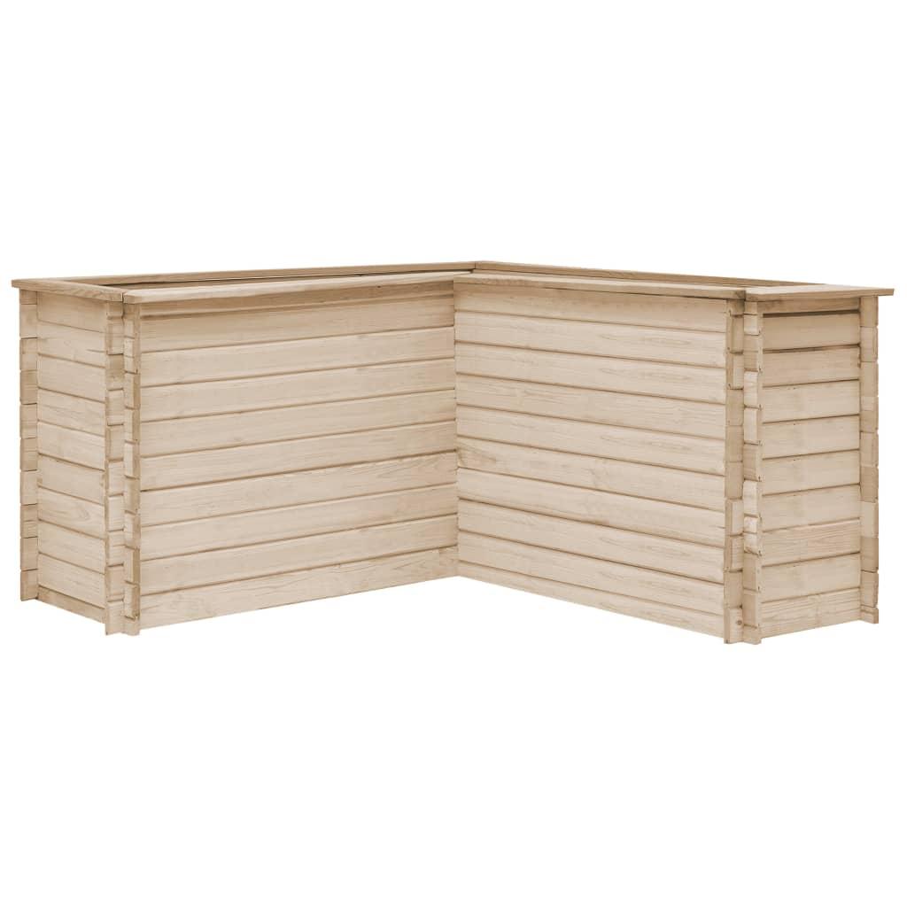 vidaXL Strat înălțat de grădină, 150 x 150 x 80 cm, lemn masiv de pin poza vidaxl.ro