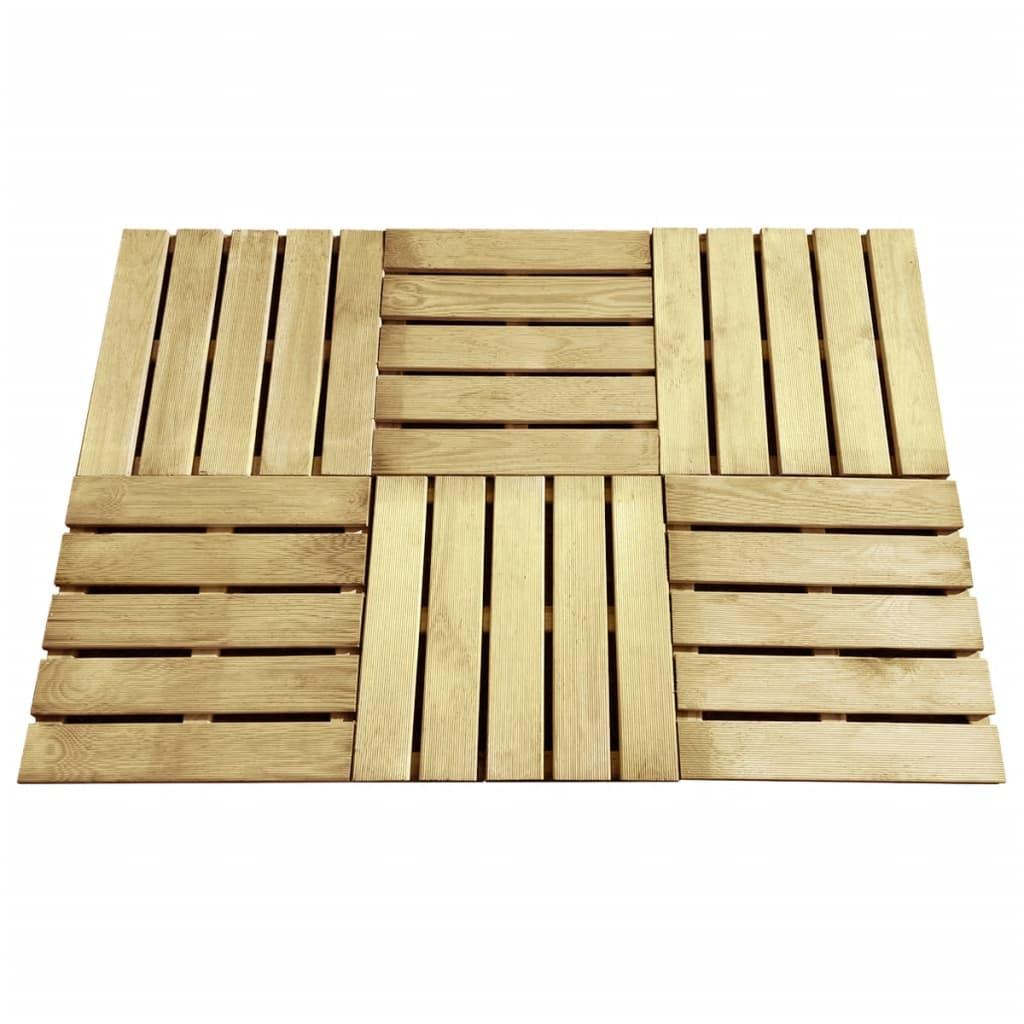 vidaXL Terasové dlaždice 6 ks 50 x 50 cm dřevo zelené