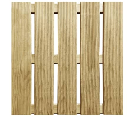 vidaXL Grindų plytelės, 6 vnt., žalios, 50x50 cm, FSC mediena[2/3]