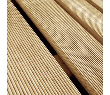 vidaXL Grindų plytelės, 6 vnt., žalios, 50x50 cm, FSC mediena[3/3]