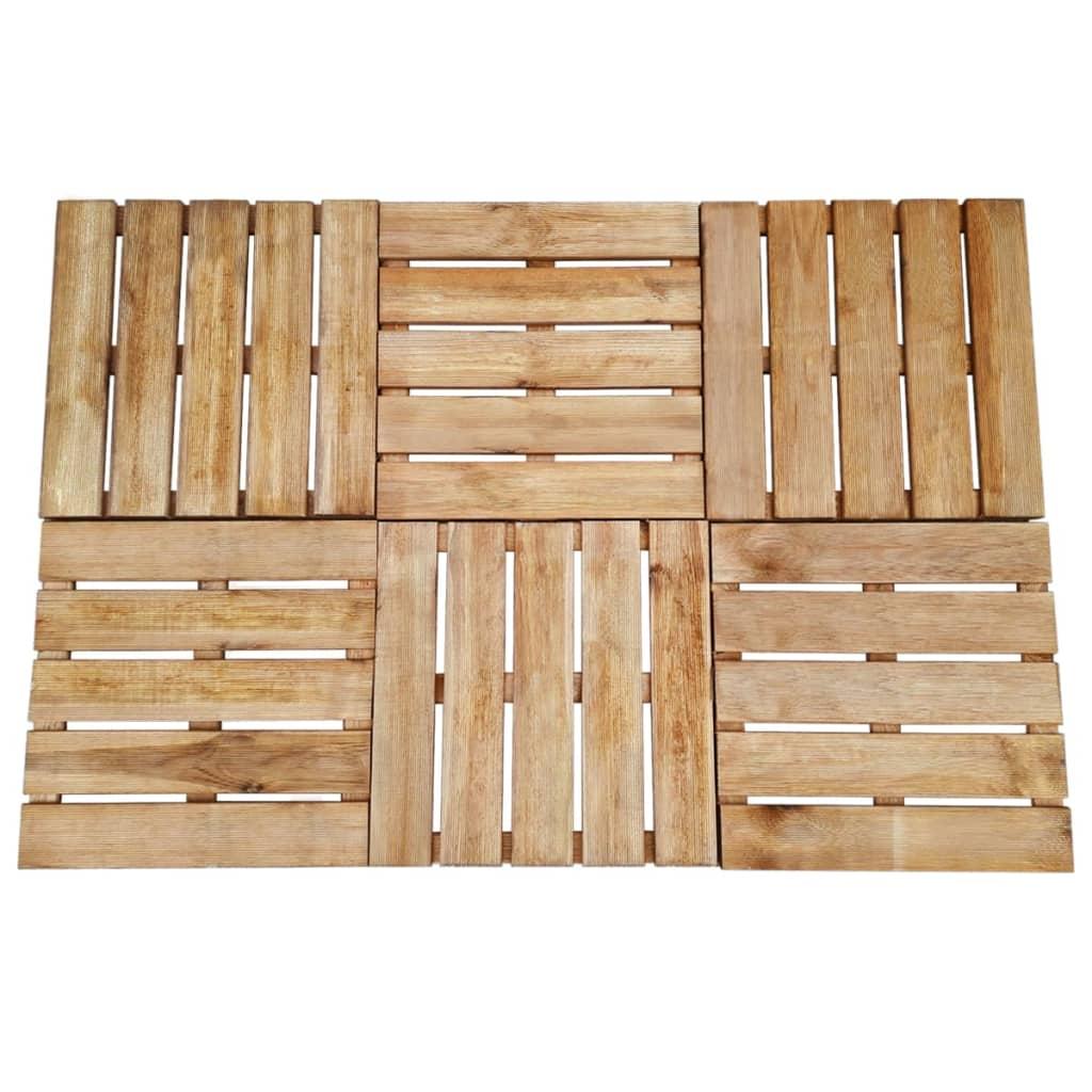 Terasové dlaždice 6 ks 50 x 50 cm dřevo hnědé