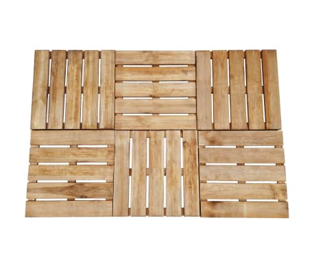 vidaXL Grindų plytelės, 6 vnt., rudos, 50x50 cm, FSC mediena[1/3]