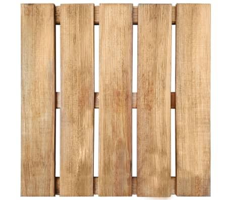 vidaXL Grindų plytelės, 6 vnt., rudos, 50x50 cm, FSC mediena[2/3]