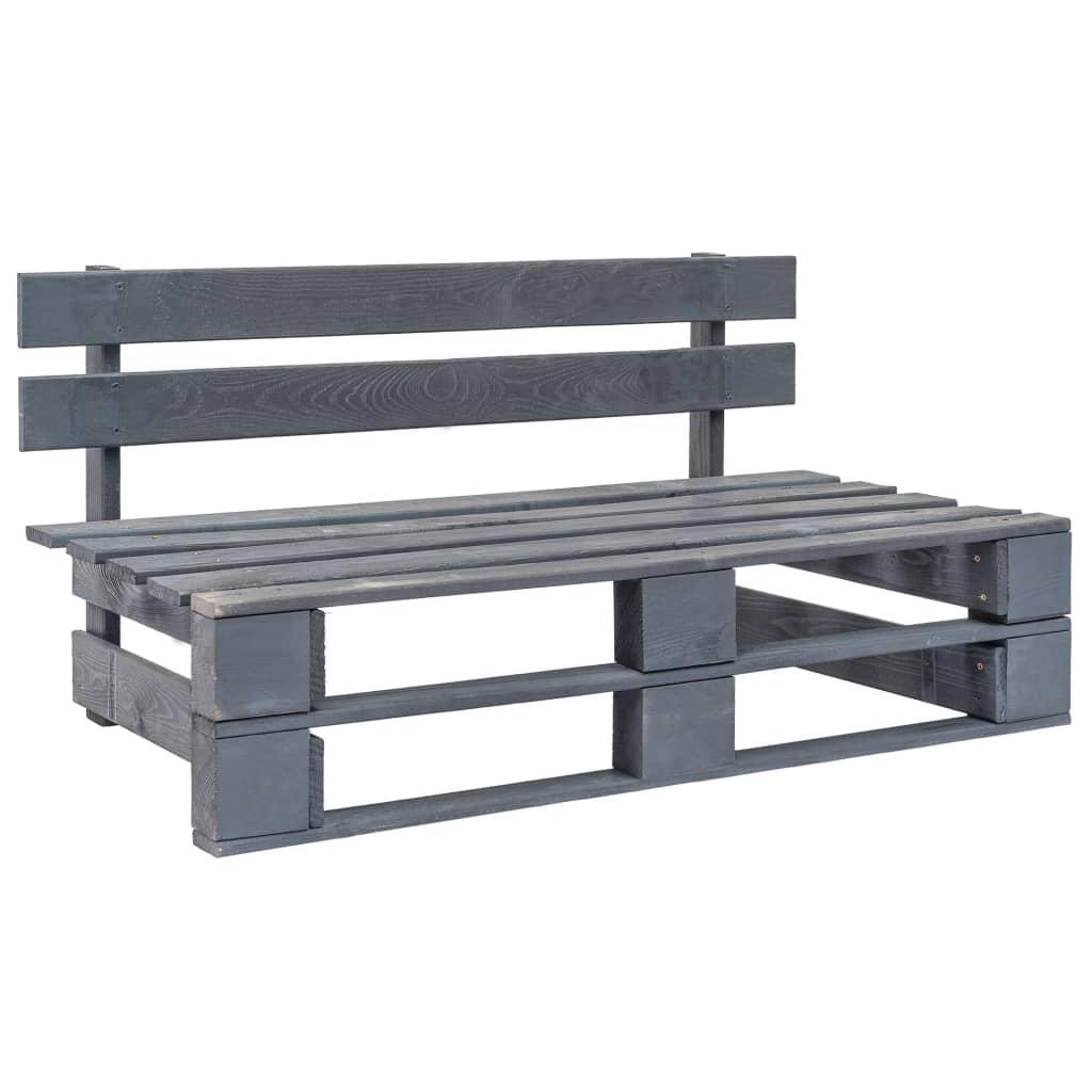 Faire Un Banc En Palette banc palette de jardin bois fsc gris - 44697