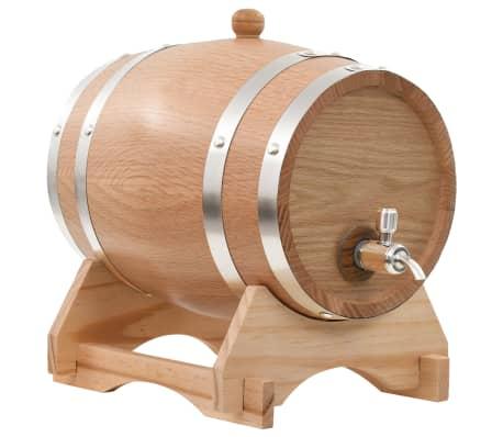 vidaXL Wine Barrel with Tap Solid Oak Wood 12 L