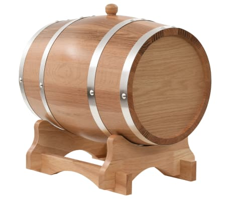 vidaXL Tonneau à vin avec robinet Chêne massif 12 L[3/9]