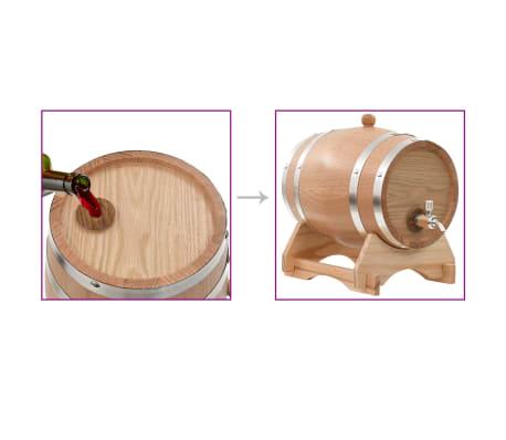 vidaXL Tonneau à vin avec robinet Chêne massif 12 L[9/9]