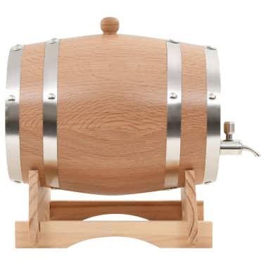 vidaXL Tonneau à vin avec robinet Chêne massif 12 L[2/9]