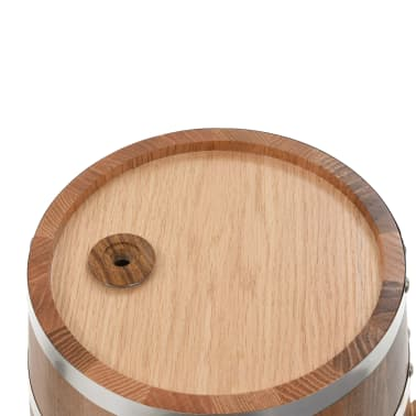 vidaXL Tonneau à vin avec robinet Chêne massif 12 L[7/9]