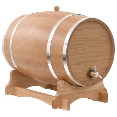 vidaXL Sud na víno z dubového dreva s kohútikom 35 l[1/9]