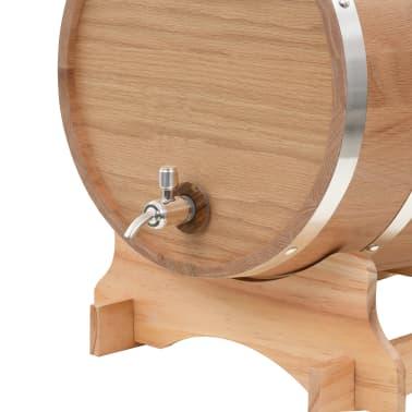 vidaXL Sud na víno z dubového dreva s kohútikom 35 l[5/9]