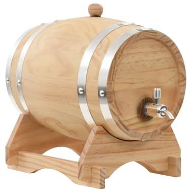 vidaXL Vyno statinė su kraneliu, pušies medienos masyvas, 6l[1/9]