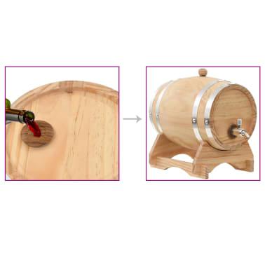 vidaXL Barilotto di Vino con Spina in Legno Massello di Pino 6 L[9/9]