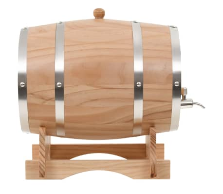 vidaXL Sod za vino s pipo trdna borovina 12 L[2/9]