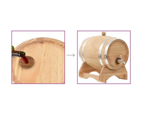 vidaXL Sod za vino s pipo trdna borovina 12 L[9/9]