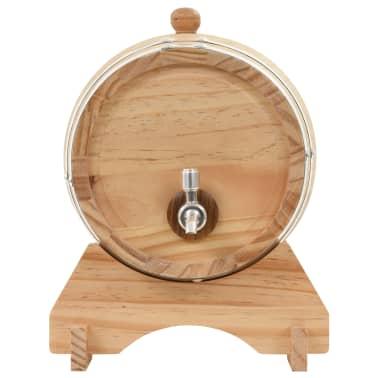 vidaXL Sod za vino s pipo trdna borovina 12 L[3/9]