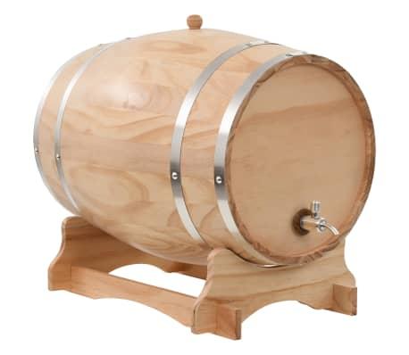 vidaXL Sud na víno s kohútikom z borovicového dreva 35 l[1/9]