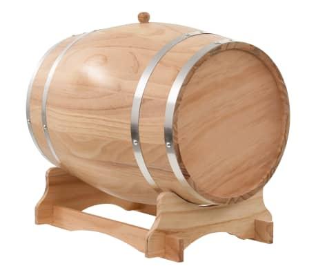 vidaXL Sud na víno s kohútikom z borovicového dreva 35 l[3/9]