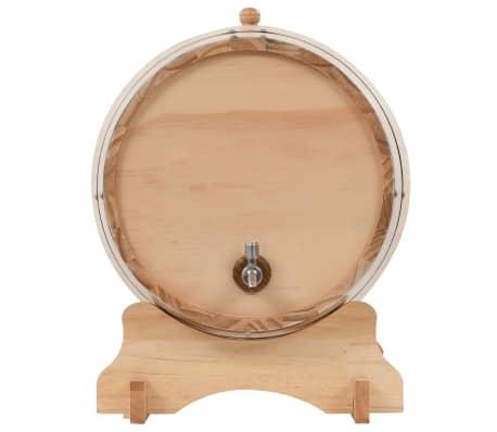 vidaXL Sud na víno s kohútikom z borovicového dreva 35 l[4/9]