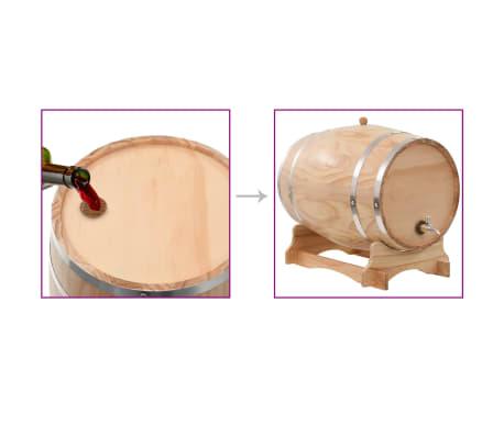 vidaXL Vyno statinė su kraneliu, pušies medienos masyvas, 35l[9/9]