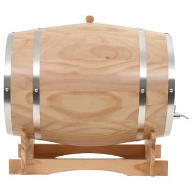 vidaXL Sud na víno s kohútikom z borovicového dreva 35 l[2/9]