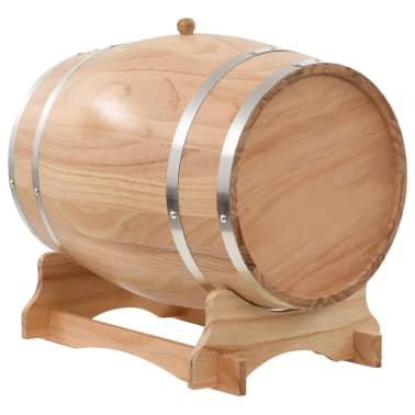 vidaXL Vyno statinė su kraneliu, pušies medienos masyvas, 35l[3/9]