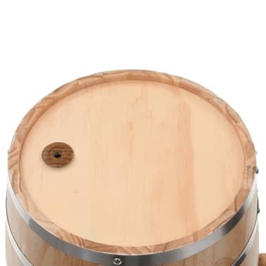 vidaXL Vyno statinė su kraneliu, pušies medienos masyvas, 35l[7/9]