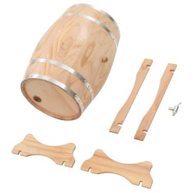 vidaXL Sud na víno s kohútikom z borovicového dreva 35 l[8/9]