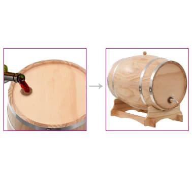 vidaXL Sud na víno s kohútikom z borovicového dreva 35 l[9/9]