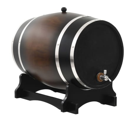 vidaXL Wine Barrel with Tap Solid Pinewood 35 L