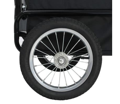 vidaXL 2-in-1 Pet Bike Trailer & Jogging Stroller Red and Black[7/12]
