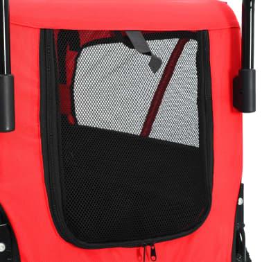 vidaXL 2-in-1 Pet Bike Trailer & Jogging Stroller Red and Black[6/12]