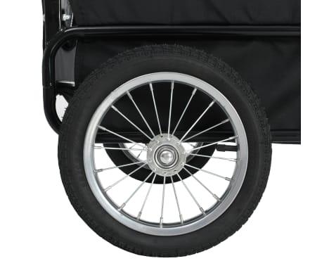 vidaXL 2-in-1 Pet Bike Trailer & Jogging Stroller Gray and Blue[7/12]