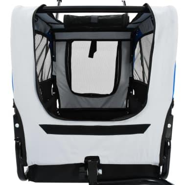 vidaXL 2-in-1 Pet Bike Trailer & Jogging Stroller Gray and Blue[5/12]
